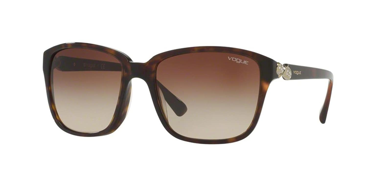 Vogue VO5093BF Sunglasses W65613-56 - Dark Havana at Amazon ...