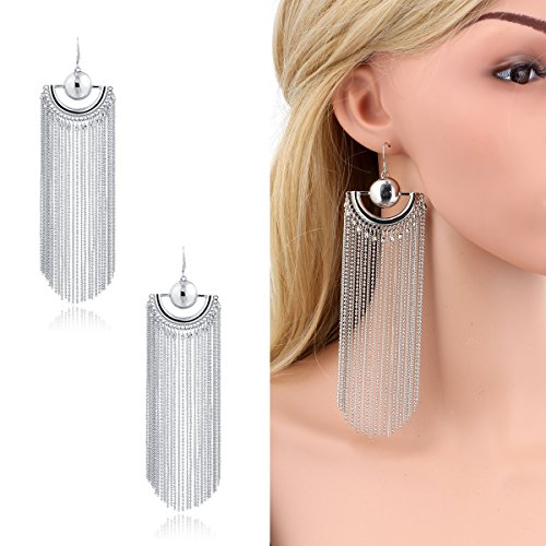 Plated Fringe Dangle Earrings Jewelry product image