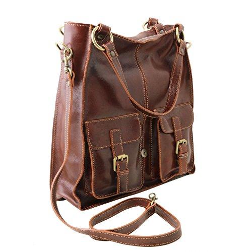 Tuscany Black Red Lady bag Red bag Leather leather Tuscany leather Melissa Melissa Lady Leather OgO7Wqrf