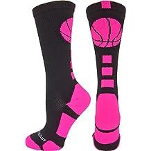 MadSportsStuff Basketball Logo Athletic Crew Socks (over 15 colors)