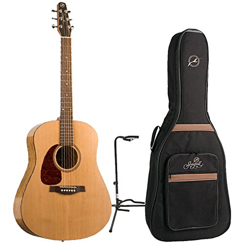 Seagull S6'The Original' Left-Handed Acoustic w/Seagull Gig Bag and Guitar Stand