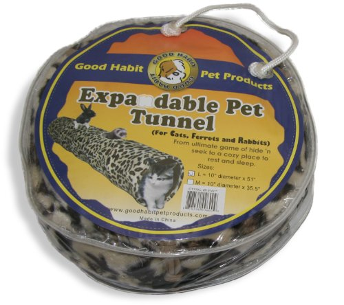 Best Pet Supplies 51-Inch Leopard Print Cat Tunnel, Large