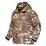 Veste Softshell Tactique Hommes d'hiver Camouflage armée Combat Veste à Capuche Airsoft Vestes Militaires Randonnée 14