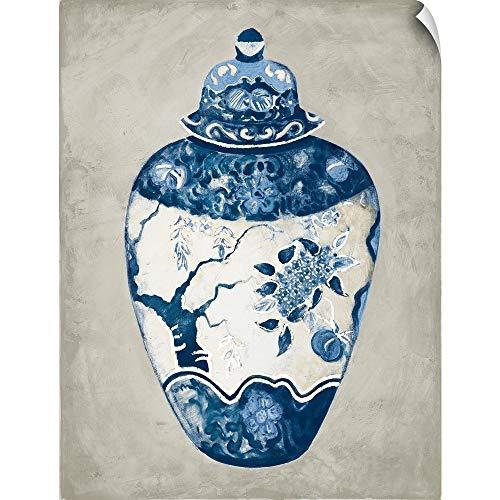 Imari Urn - CANVAS ON DEMAND Imari Urn I Blue and White Wall Peel Art Print, 12
