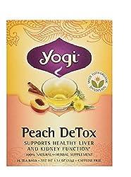 Yogi Tea,16 Tea Bags (Peach Detox, 1 Pack)