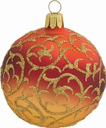 2 bolas de navidad de cristal hada trono cobre 8 cm, vidrio soplado bola fabricado en Alemania, árbol, bolas decorativas, bolas de cristal, Navidad: Amazon.es: Hogar