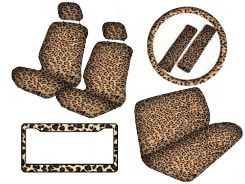 headrest covers leopard - 3