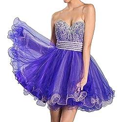 Meier Women's Sweetheart Rhinestone Baby Doll Sweet 16 Homecoming Party Dress Purple-6