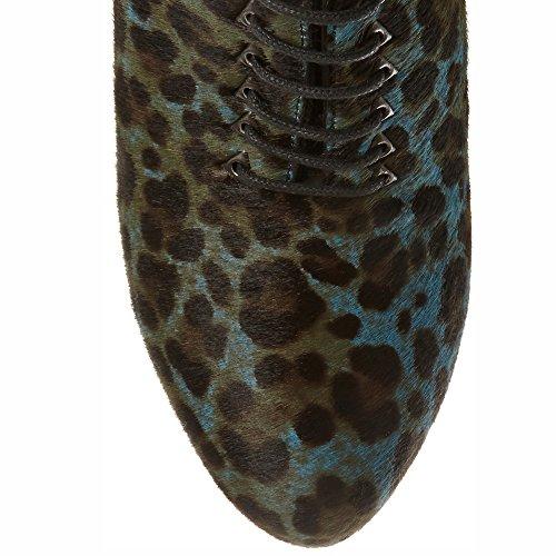 Grey Platform up Pumps Women Dress Black Ankle Size Boots 7 Shoes Lace HtqXXxpwOd