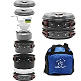 Bulin 13 Piece Camping Cookware Mess Kit Outdoor Backpacking Hiking Gear Cooking Equipment