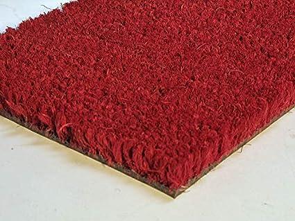 Zerbino In Cocco Rosso Bordeaux Su Misura Spessore 17 Mm Tappeto Zerbino Su Misura Per Ingresso E Condomini Zerbino In Cocco Zerbino Tinta Unita Misura 100 X 50 Cm Amazon It Casa E Cucina