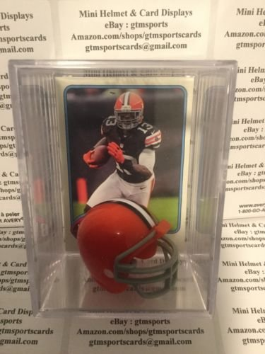 Josh Gordon Cleveland Browns Mini Helmet Card Display Collectible Case WR Auto