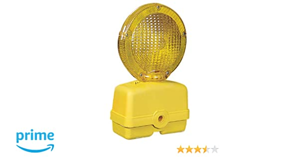Yellow Mutual 17739 Traffic Barricade Flasher with 7 Polycarbonate Fresnel Lens