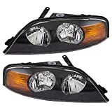 Georgie Boy Cruise Master 2002-2011 RV Motorhome Pair (Left & Right) Replacement Front Headlights with Bulbs