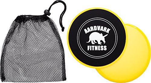 Gliding Discs Core Sliders for Strength and Stability Abdominal and Glutes Exercise Slides for Home and Gym Work Out Works on Carpet and Hardwood Floors by AARDVARK