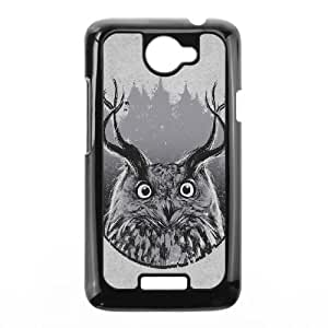 HTC One X Cell Phone Case Black Abstract Owl's Horn Minimalist Rduwf