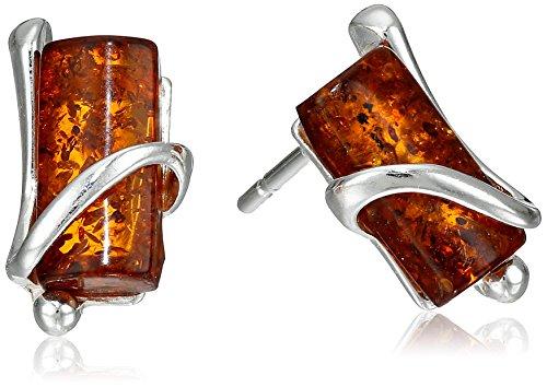 Sterling Silver Honey Amber Earrings