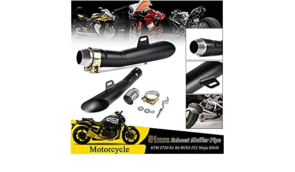 Amazon.com: FATExpress 51mm Universal Motorcycle Exhaust ...