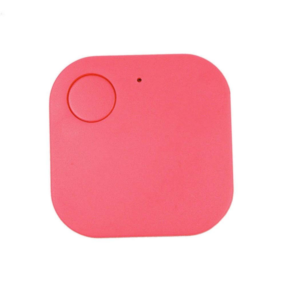 Mini GPS Tracker, Car Motor GPS Tracker Wallet Keys Alarm Locator Realtime Finder Device, Locator Positioning Spy Tracker for Vehicles Pet Child Elder People Luggage Phones Anti-Lost Tracker (Pink)