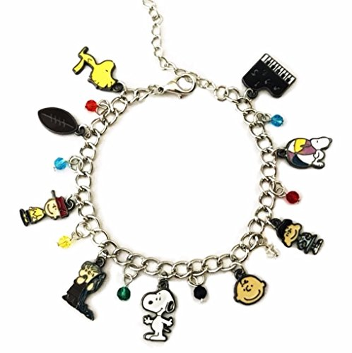 Peanuts Snoopy Charlie Brown and Gang Novelty Charm Bracelet