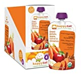 Happy Family Brands Happy Tots Sweet Potato, Carrot, Apple & Cinnamon Organic Superfoods for Kids Stage 4 4 oz. pouches 4.22 oz. (a)