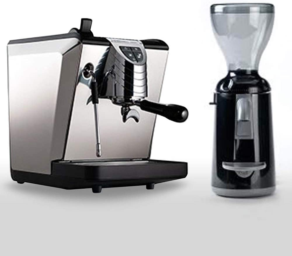 Combo Set Nuova Simon Elli Cafetera expreso Oscar II Negro, kaffem ühle Grinta ammt fabricado en italia.: Amazon.es: Hogar
