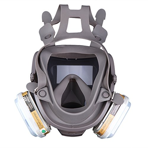 Yunge Full Face Respirator Gas Mask For 6800 Painting Spraying(15 in 1)Facepiece Respirator- Industrial Grade Quality by YungeEquipmentUS (Image #6)