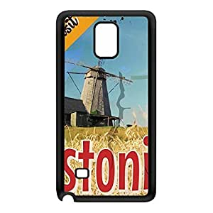 Estonia Black Silicon Rubber Case for Galaxy Note 4 by Nick Greenaway + FREE Crystal Clear Screen Protector
