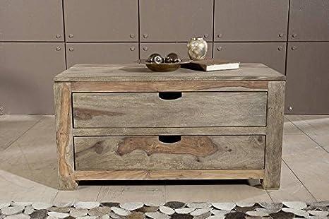 Mobili In Legno Naturale : Palissandro in legno massello cassettiera sheesham mobili in legno
