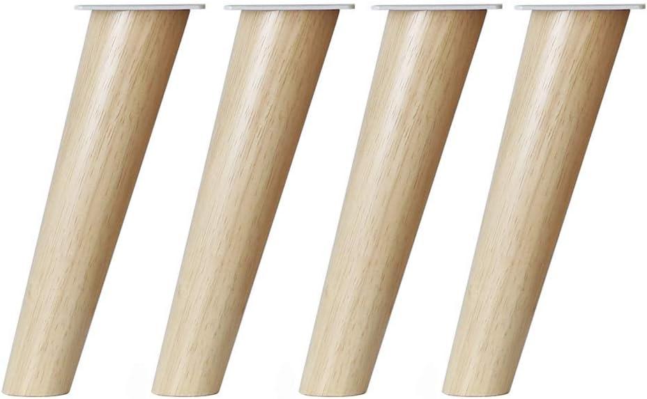ZTMN Pies de sofá de Madera Maciza, Patas de Mesa, Patas de gabinete Patas de Muebles de Madera, para sillón reclinable Mesa de Centro Tocador Aparador Juego de 4 (6.9 Pulgadas / 17.5 cm)