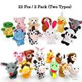 chicken and duck talk - 22pcs Plush Animals Finger Puppets - Sealive Story Time Mini Animals Assortment For Kids Family Members, Funny Hands Finger Puppets Game For Autistic Children, Great Novelty Educational Toys Set