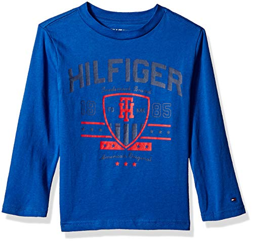Tommy Hilfiger Little Boys' Dustin-Bex Jersey Long Sleeve Tee, Monaco Blue, ()