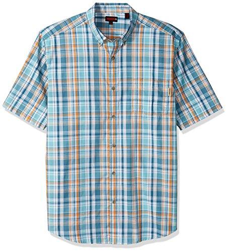 wolverine-mens-big-mortar-poplin-blend-short-sleeve-shirt-clearlake-plaid-2x-large-tall