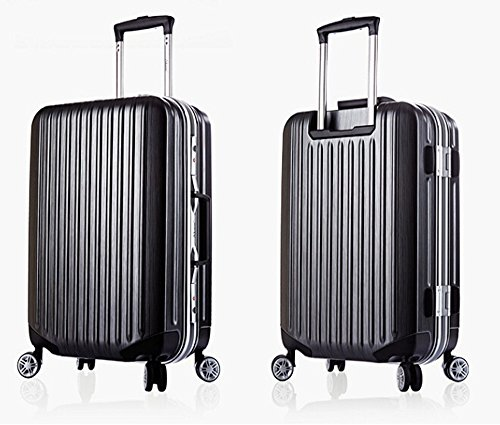UNHO PC Hard Shell Trolley Travel Suitcase 4 Wheels: Amazon.co.uk ...