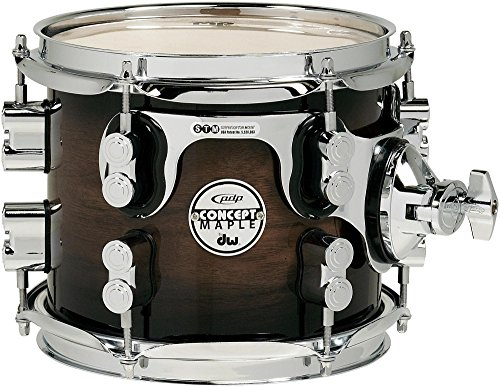 DW Concept Exotic Series Walnut to Charcoal Burst, Suspended Tom 8 x 7 in. ()