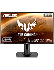ASUS TUF Gaming VG279QM 27 inch Full HD HDR Gaming Monitor, Fast IPS, Overclockable 280Hz (Above 240Hz, 144Hz), 1ms (GTG), ELMB SYNC, G-SYNC Compatible, DisplayHDR 400, Black
