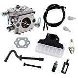 Podoy Ms250 Carburetor for Stihl Chainsaw Parts 025 Fuel Tank Vent Line Tune Up Kit for 021 023 MS210 MS230