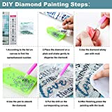 XPCARE 6 Pack 5d Diamond Painting Kits Round Full