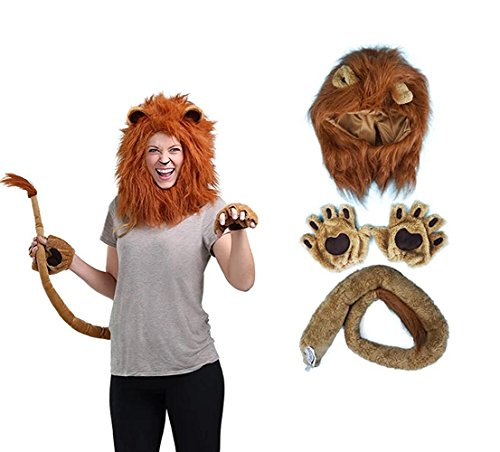 Lion Ears And Tail (Halloween Cosplay lion suite)
