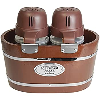 Amazon.com: Nostalgia ICMP600WD 6-Quart Wood Bucket Ice Cream ...