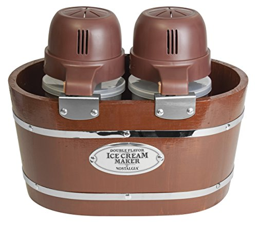 Nostalgia ICMW200DBL 4-Quart Double Flavor Ice Cream Maker