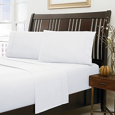 Cotton King 500 TC SHEET SET WHITE QUEEN SIZE IN 10