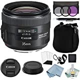 Canon EF 35mm f/2 IS USM Lens + Advanced Accessory Kit - Canon Lens Bundle Includes EVERYTHING You Need to Get Started