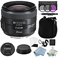 Canon EF 35mm f/2 IS USM Lens + Canon EF 35mm Lens Advanced Accessory Kit - Canon Lens Bundle Includes EVERYTHING You Need to Get Started
