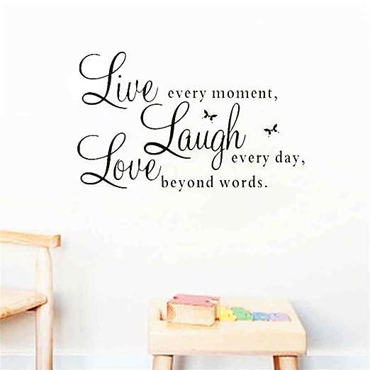 1 PACK,Live Laugh Love Quotes Tatuajes De Pared Decoraciones Para ...