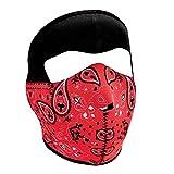 Zanheadgear Neoprene Full Face Mask, Red Paisley Bandanna
