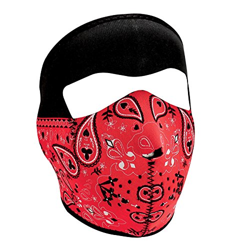 Zanheadgear Neoprene Full Face Mask, Red Paisley Bandanna