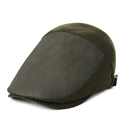 Mens Winter Ivy Newsboy Flat Hunting Gatsby Patchwork Hat for Women Fall  Army Green 26e685b39f42