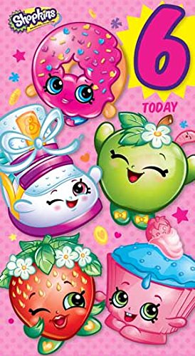 Amazon shopkins age 6 today 6th birthday card toys games shopkins age 6 today 6th birthday card bookmarktalkfo Images