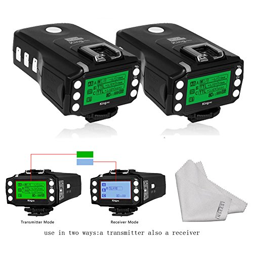2 PCS Pixel King PRO Transceiver TTL for Sony Mirrorless Camera and DSLR Camera with New Sony Hotshoe Port by Pixel
